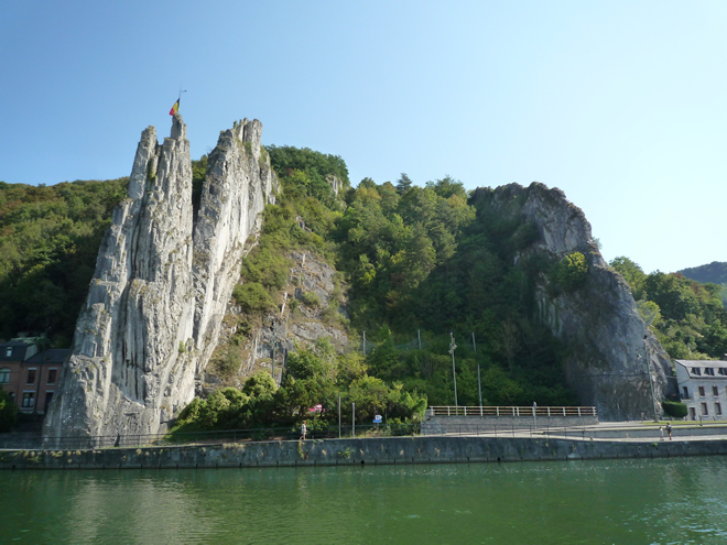 Spectacular rock formations, Meuse valley